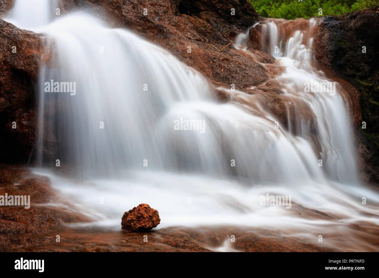 Ironstone Barranco cae Foto de stock