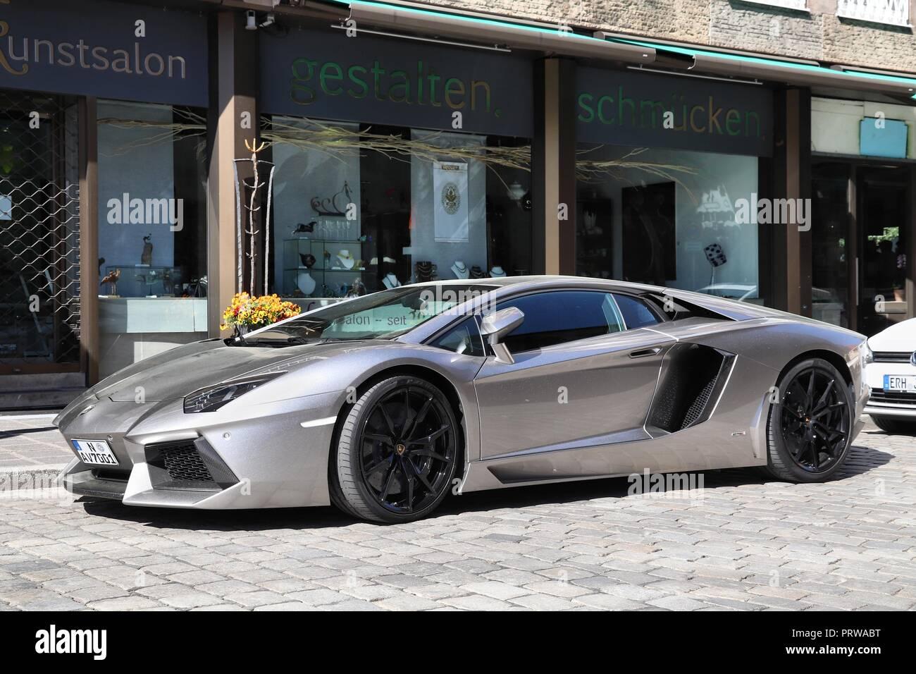 Nuremberg Alemania 6 De Mayo De 2018 Lamborghini Aventador