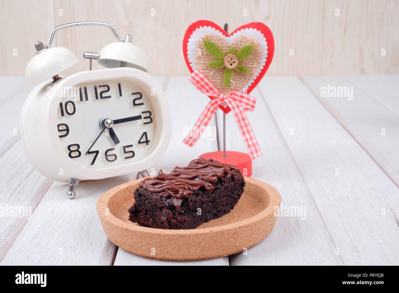 AlarmaNota Reloj Chocolate Clipper Brownie De Y Con zVSUMqp