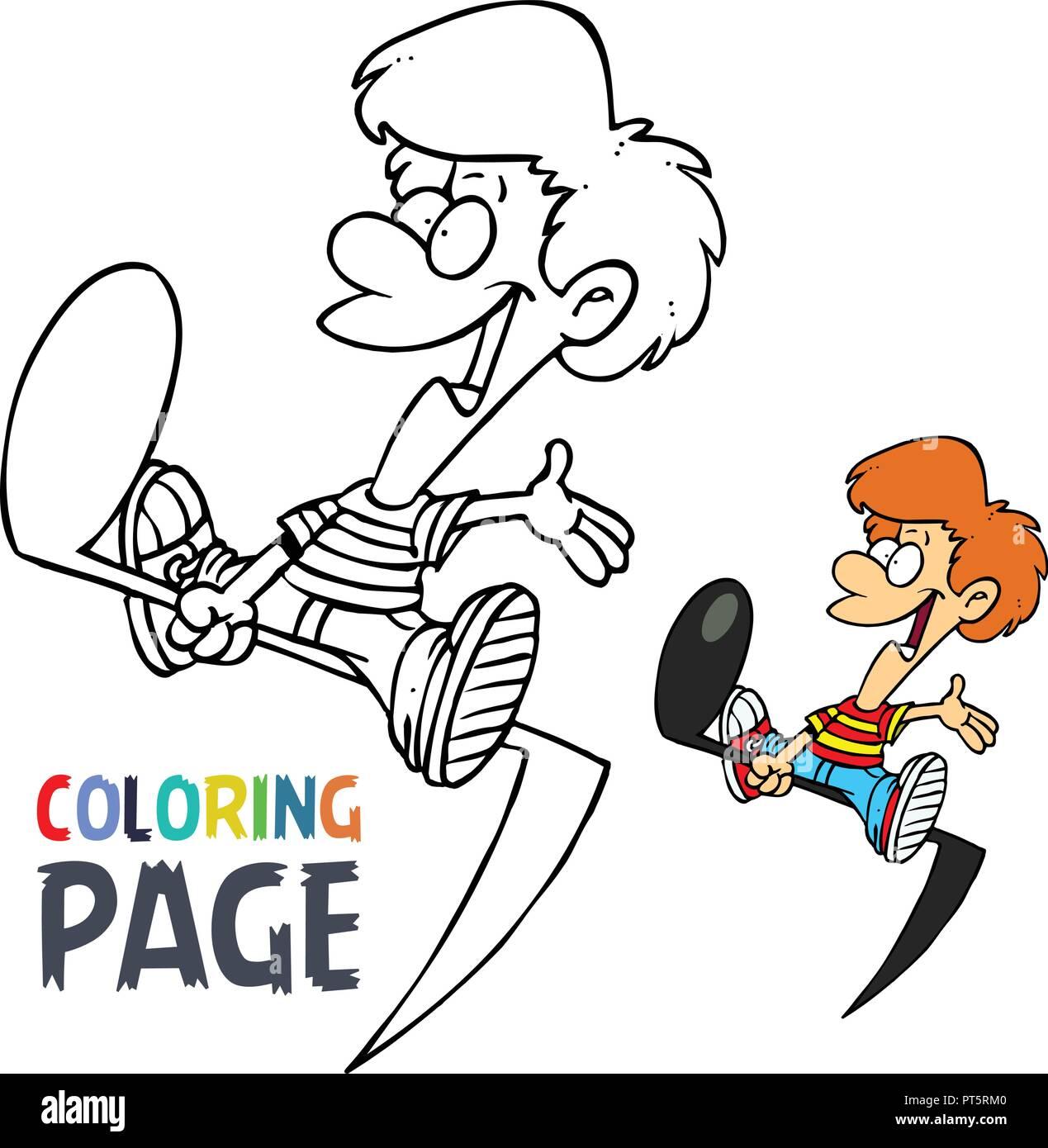 La Música Y El Tono De La Página Para Colorear Dibujos Animados Para