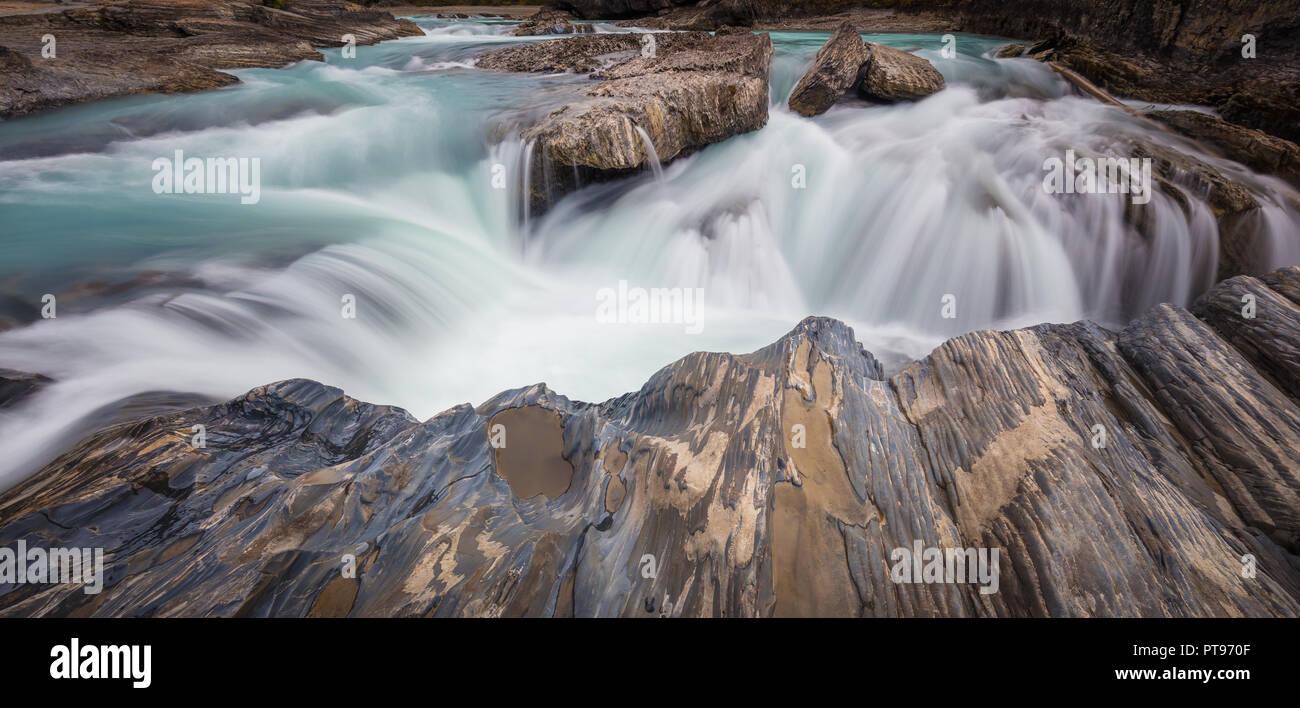 Puente natural en el Parque Nacional Yoho, British Columbia, Canadá. Imagen De Stock