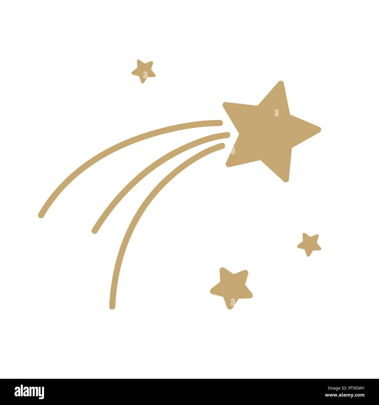 Icono de estrella caída de navidad aisladas sobre fondo blanco ilustración vectorial Ilustración del Vector