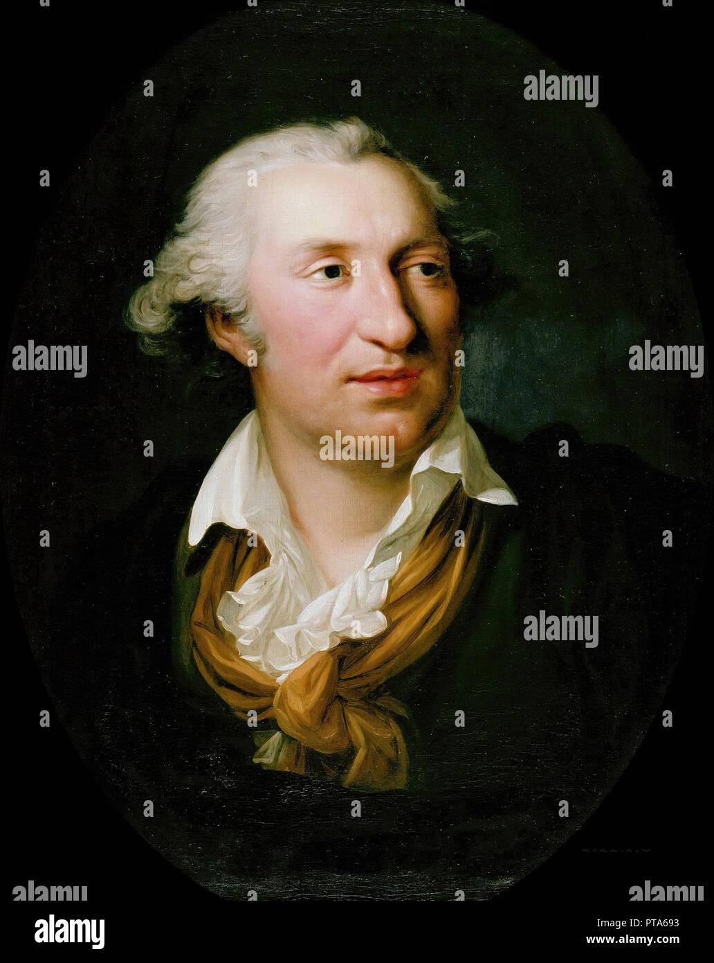 Retrato de Johann Gottfried Schadow (1764-1850), 1795. Creador: Weitsch, Georg Friedrich (1758-1828). Foto de stock