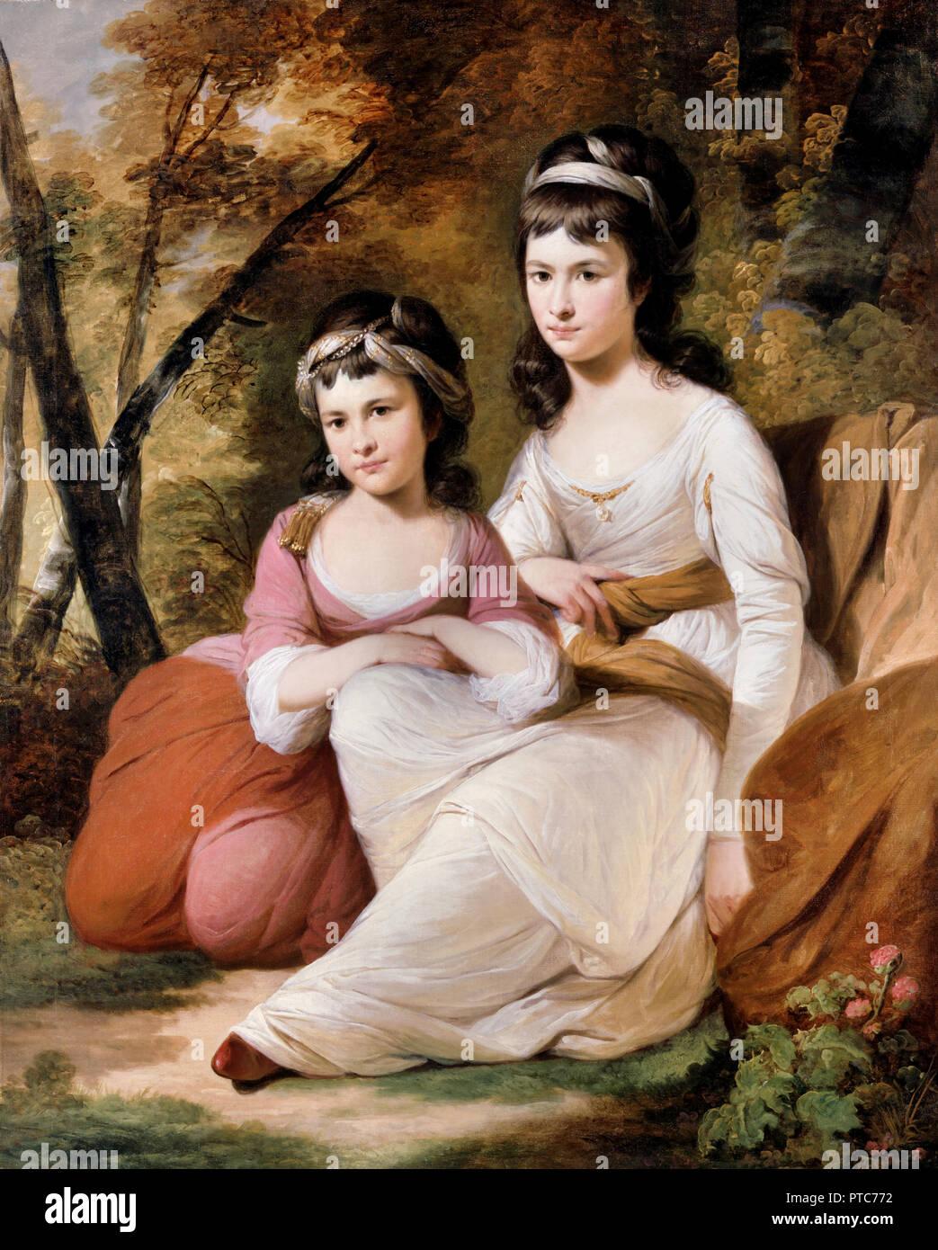 Tilly Kettle, Eliza y María Davidson, circa 1784, óleo sobre lienzo, Dulwich Picture Gallery, Londres, Inglaterra. Imagen De Stock