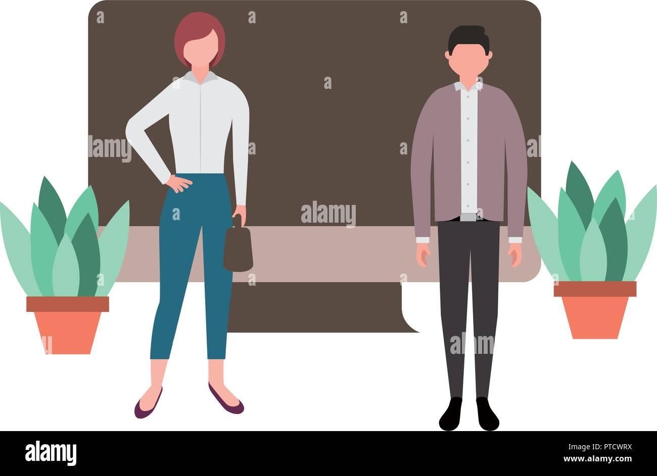 Las personas en el trabajo Ilustración del Vector