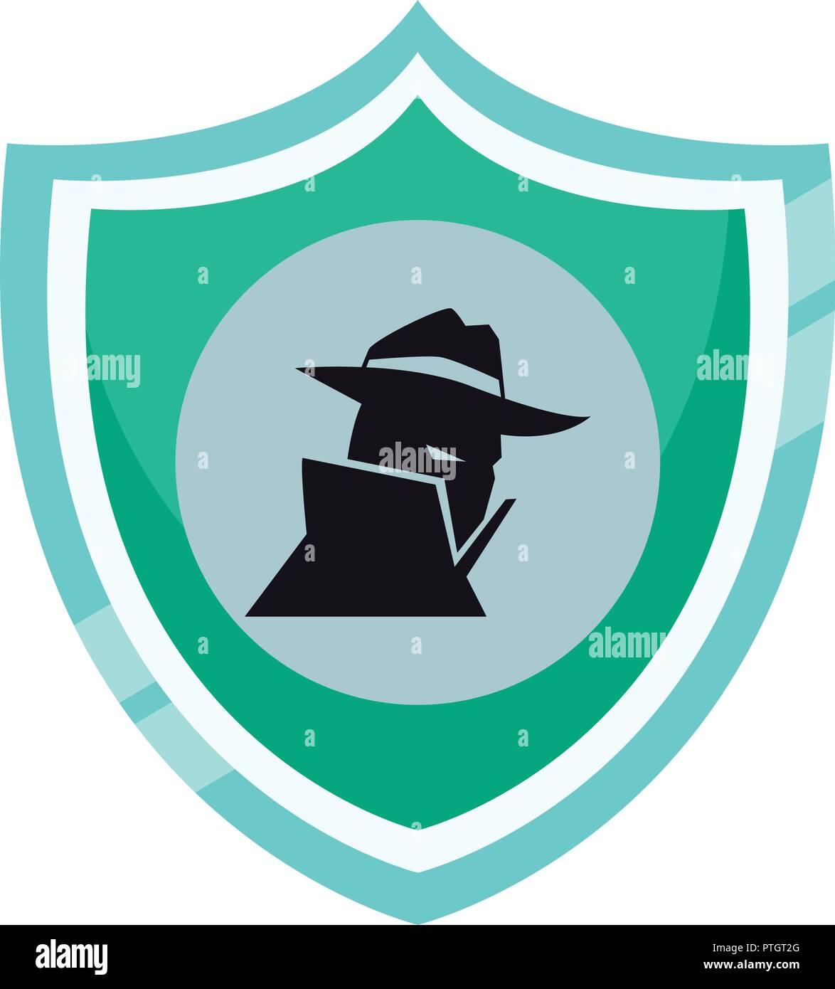 Spyware en el escudo Imagen De Stock