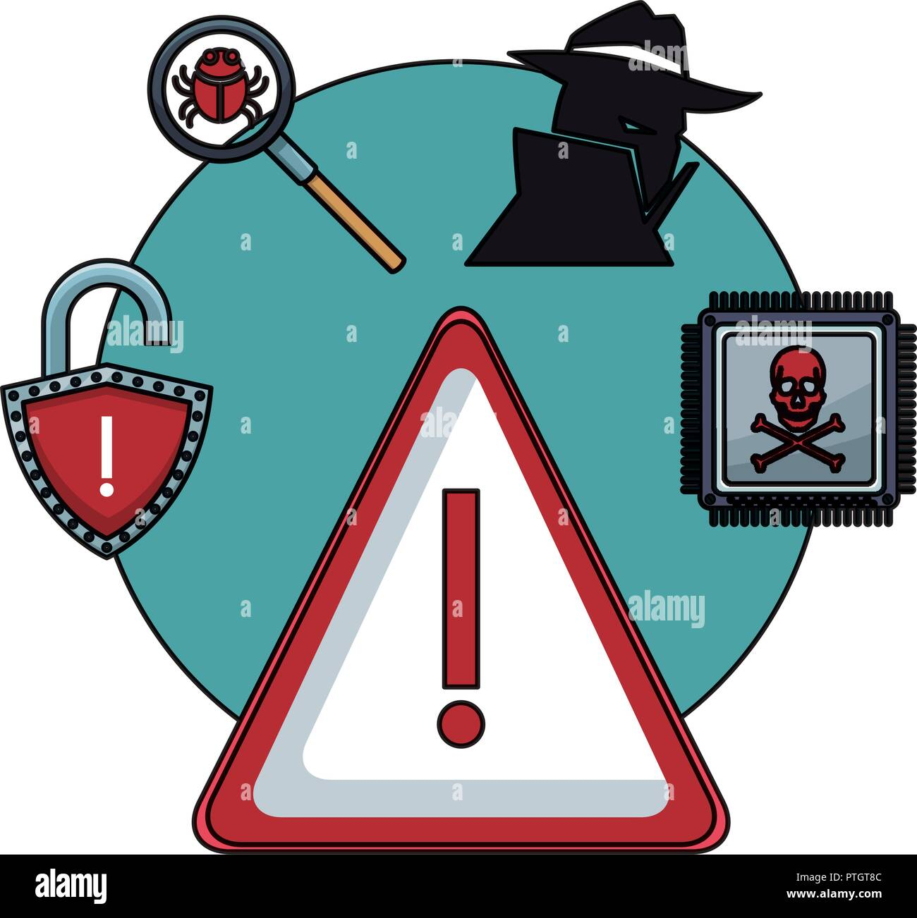 La tecnología del sistema de seguridad Imagen De Stock