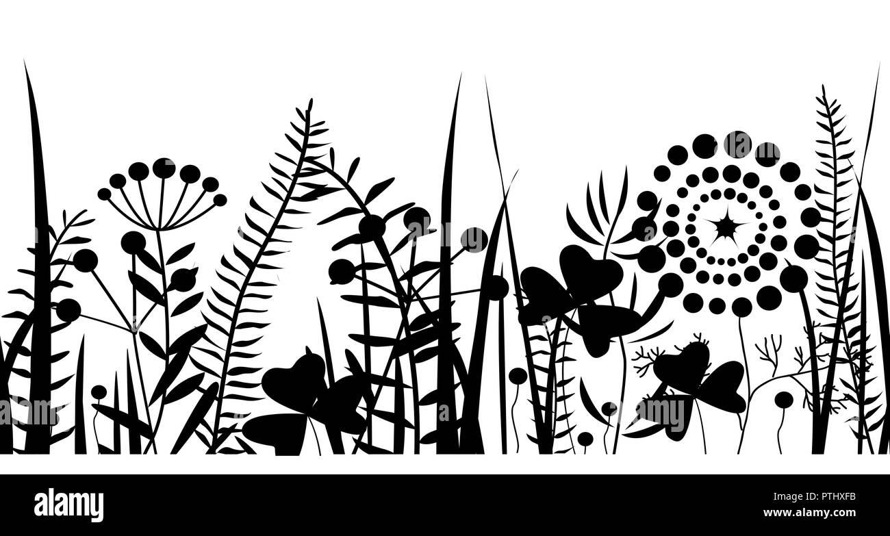 Field Flowers Vector Vectors Imágenes De Stock & Field Flowers ...