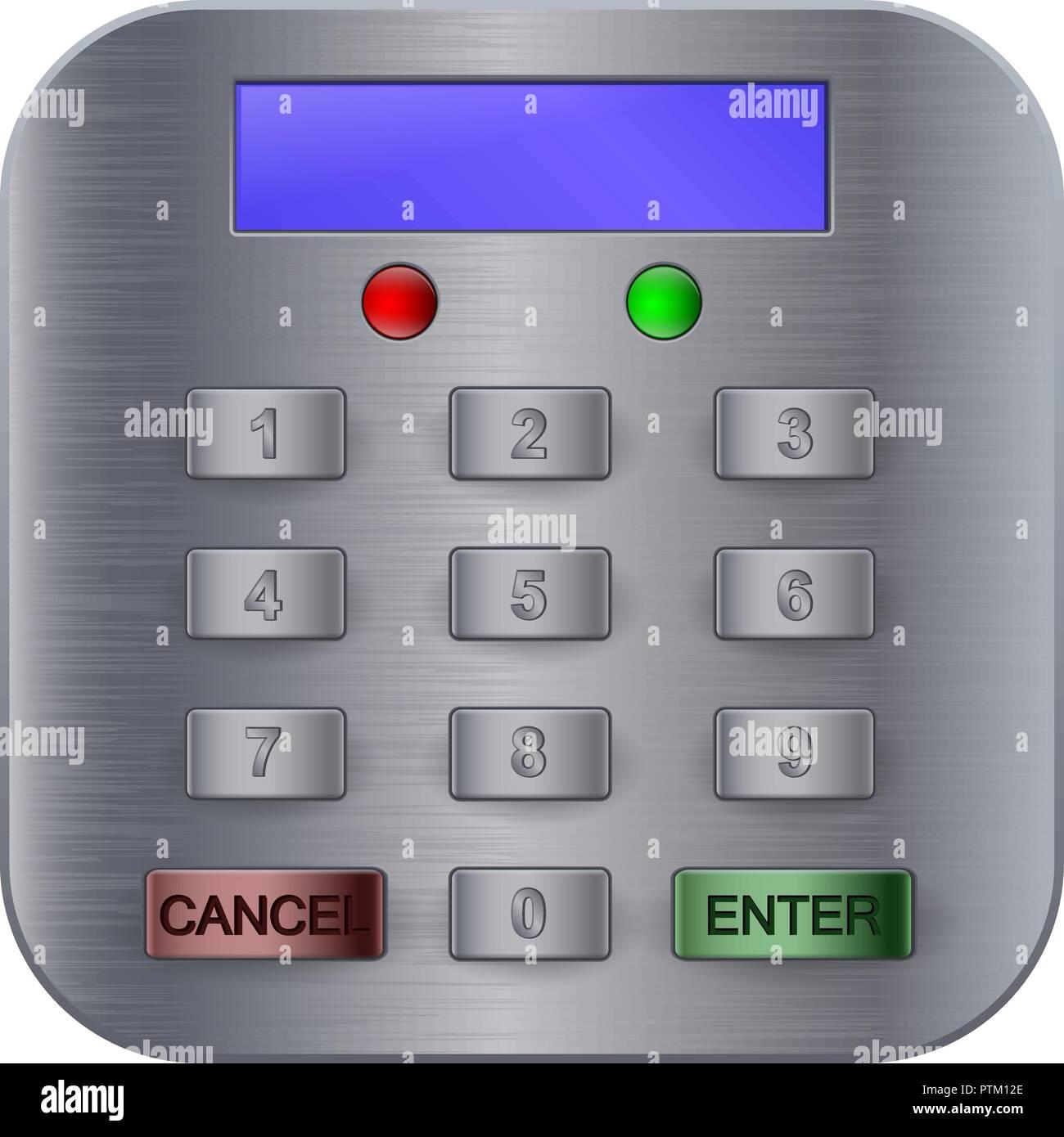 Sistema de seguridad con código digital Imagen De Stock