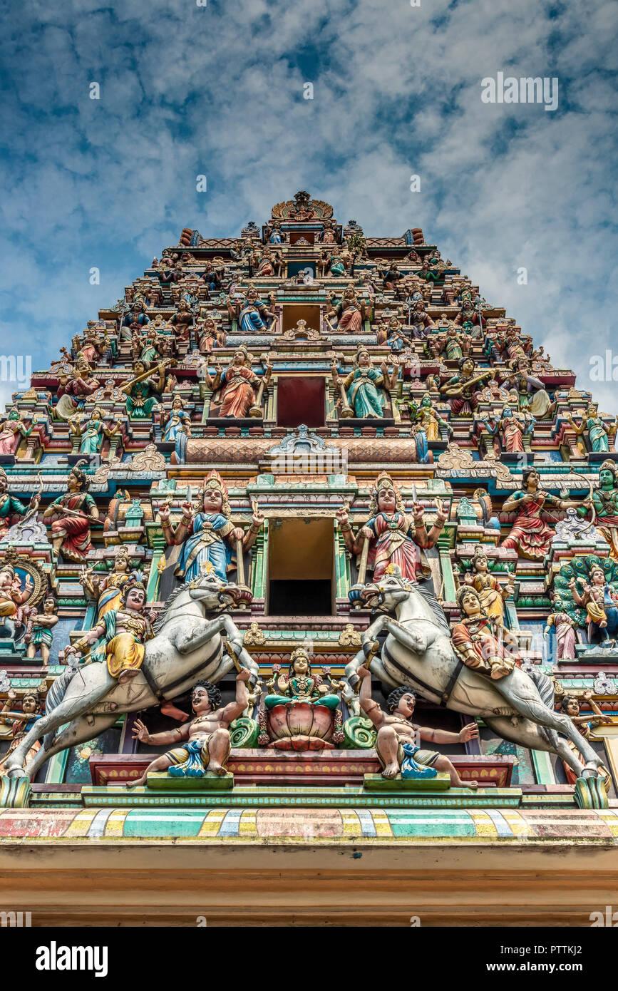 Templo Sri Mahamariamman, Kuala Lumpur, Malasia Imagen De Stock