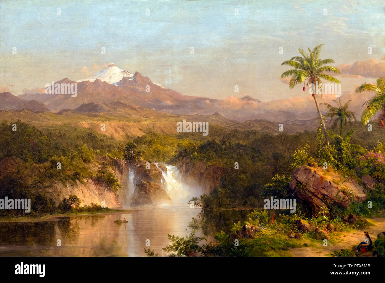Vista de Cotopaxi, Frederic Edwin Church, 1857, Instituto de Arte de Chicago, Chicago, Illinois, EE.UU., América del Norte Imagen De Stock