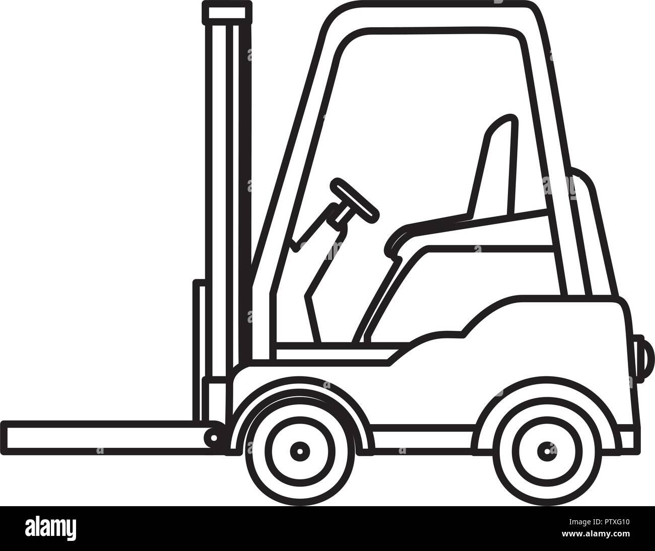 Carretilla Elevadora Vehículo Aislado Icono Diseño Ilustración