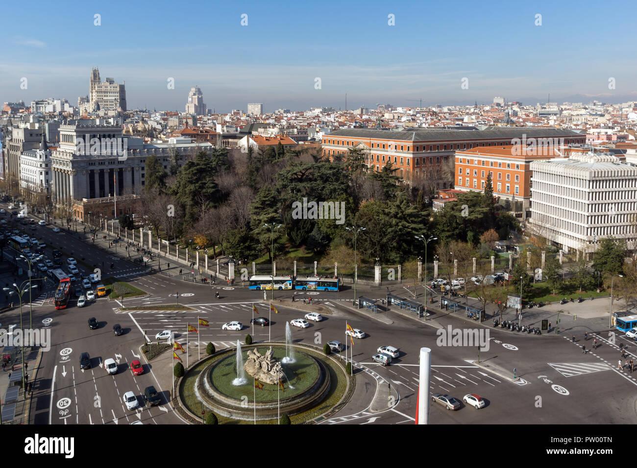 Madrid España 24 De Enero De 2018 Vistas Panorámicas