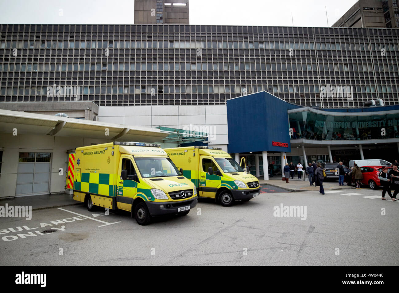 El edificio del Hospital Universitario Royal Liverpool Liverpool Merseyside England Reino Unido Foto de stock
