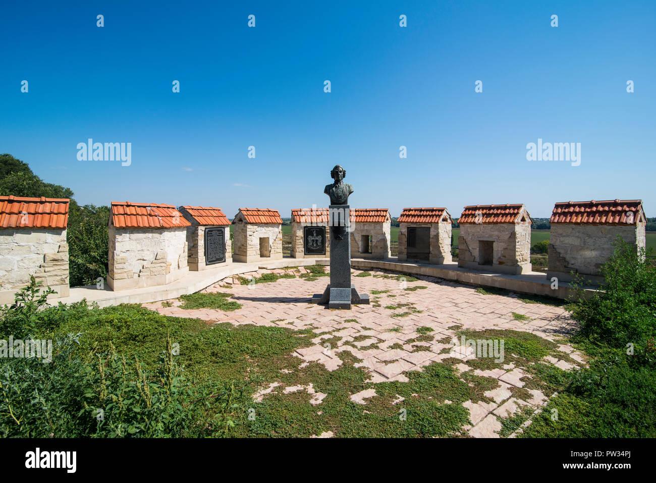 Monumento Muenchhausen en la fortaleza, Bender Bender, República de Transnistria, Moldavia Foto de stock