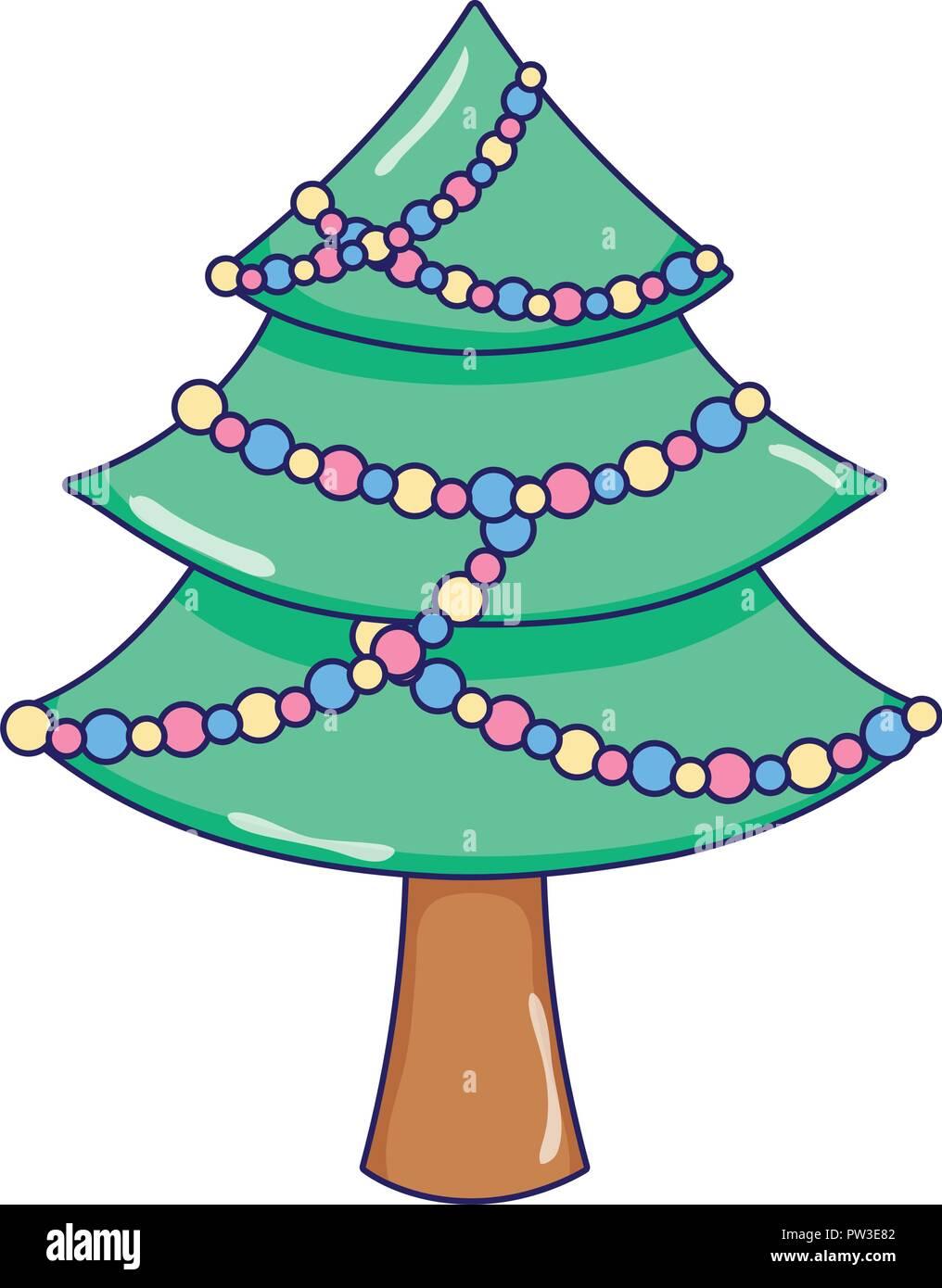 árbol De Navidad De Dibujos Animados De Pino Ilustración Del Vector