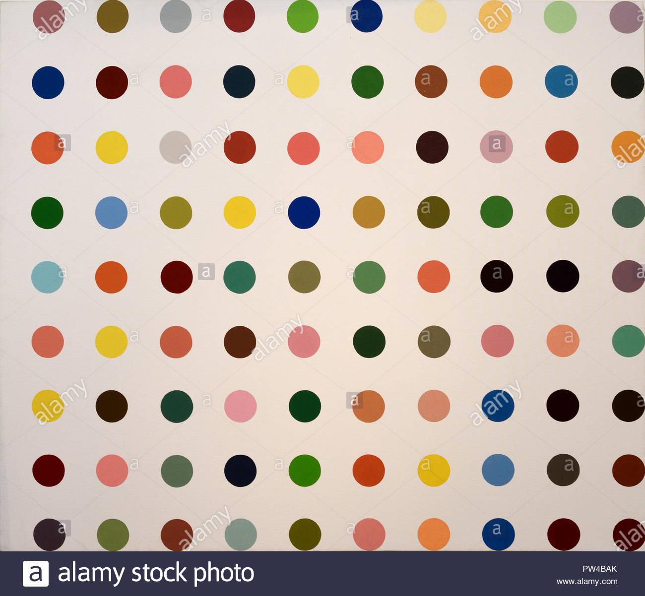 El amonio Biborate 1993 Damien Hirst 1965 Inglés Reino Unido ( 1993 ) pintados Imagen De Stock