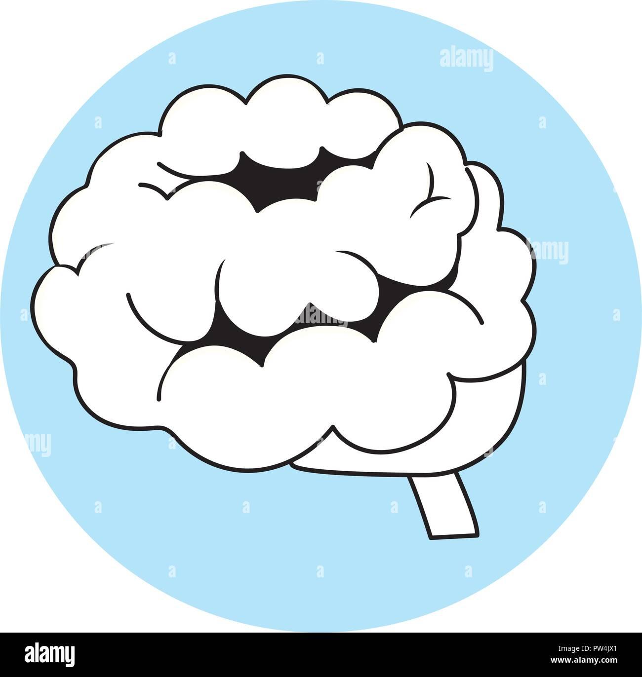 Símbolo del cerebro humano Imagen De Stock