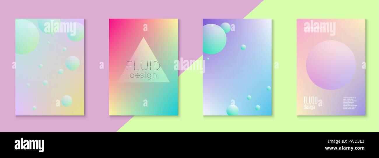 Conjunto de cubierta holográfica fluido para negocios Imagen De Stock