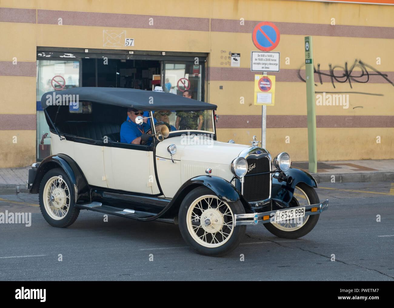 1929 Ford A. Reunión de coches clásicos en Torremolinos, Málaga, España. Foto de stock