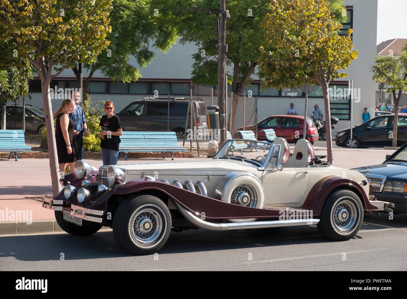 Gatsby. Reunión de coches clásicos en Torremolinos, Málaga, España. Foto de stock