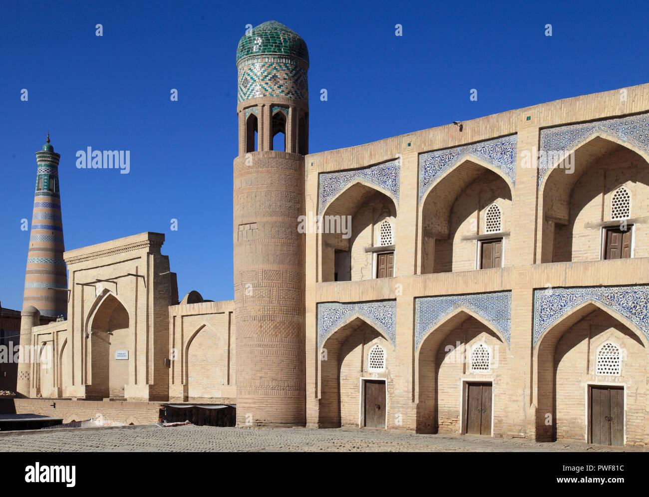Uzbekistán, Khiva, Qutlug Murod Inoq Madrassa, Imagen De Stock