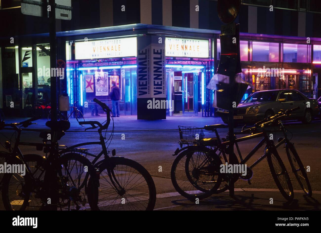 Wien, la Viennale, Gartenbau-Kino - Viena, la Viennale, Cine Gartenbau Imagen De Stock