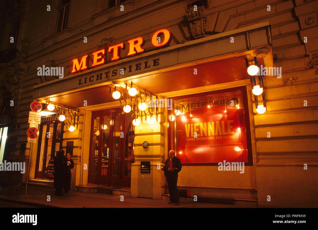 Wien, la Viennale, Metro-Kino - Viena, la Viennale, Cine Metro Imagen De Stock