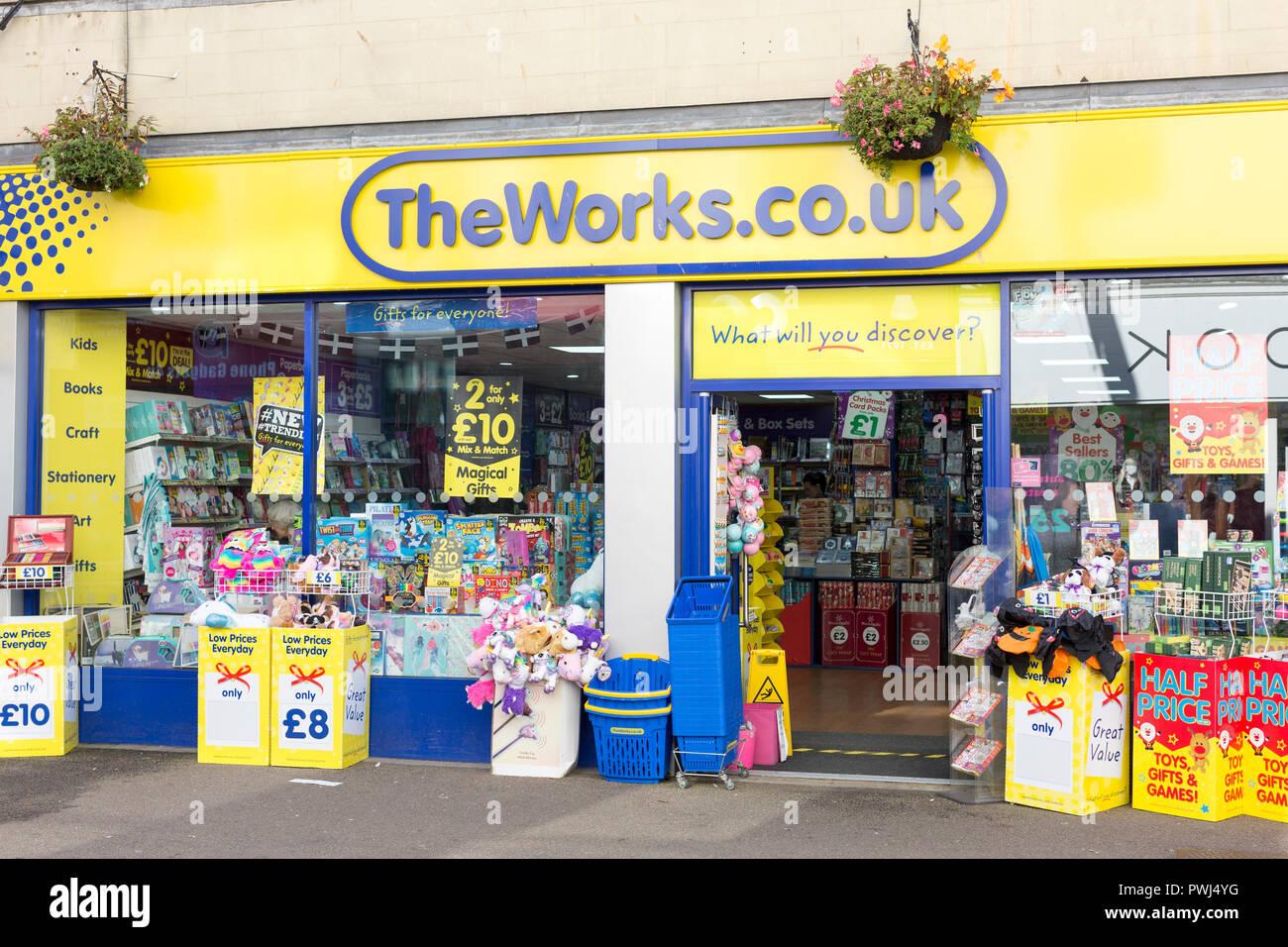 El frente de la tienda Works Foto de stock