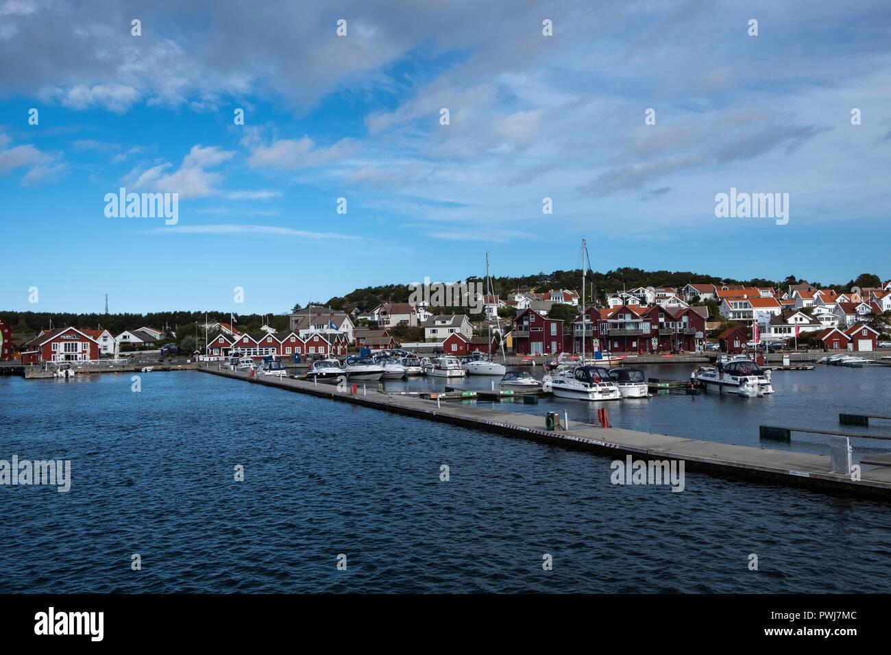 Village en Skjaerhalden islas Hvaler,Øsfold,Noruega Imagen De Stock