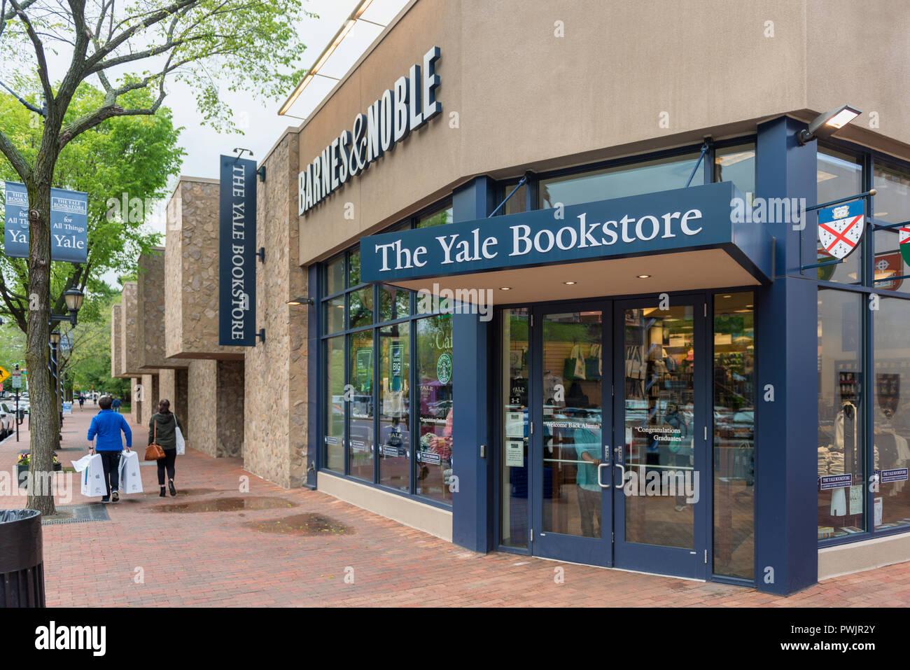 Librería de Yale en New Haven, Connecticut, Estados Unidos. Yale es una universidad privada de investigación Ivy League en New Haven, Connecticut, EE.UU. y fue fundada en 1701. Imagen De Stock