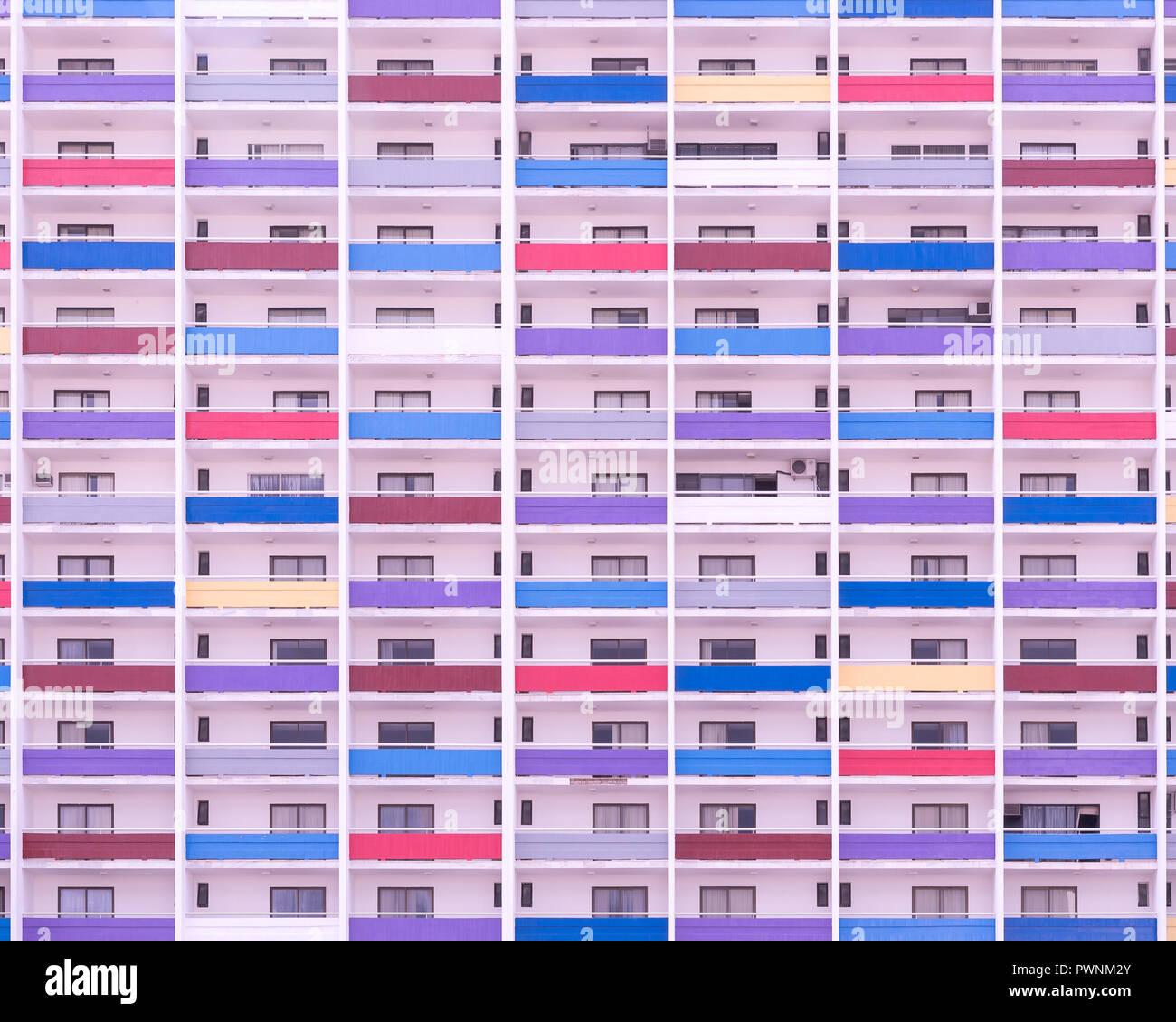 Colorida fachada Foto de stock