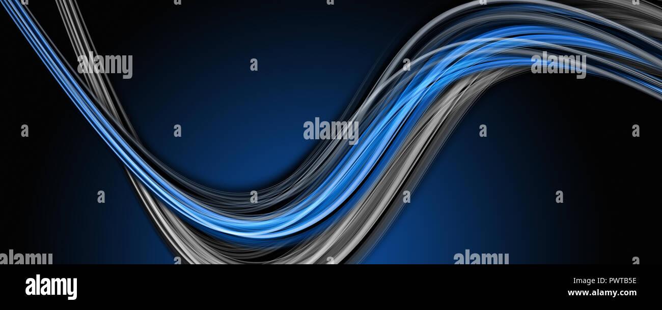 Elegante diseño abstracto panorama de onda con espacio para el texto Foto de stock