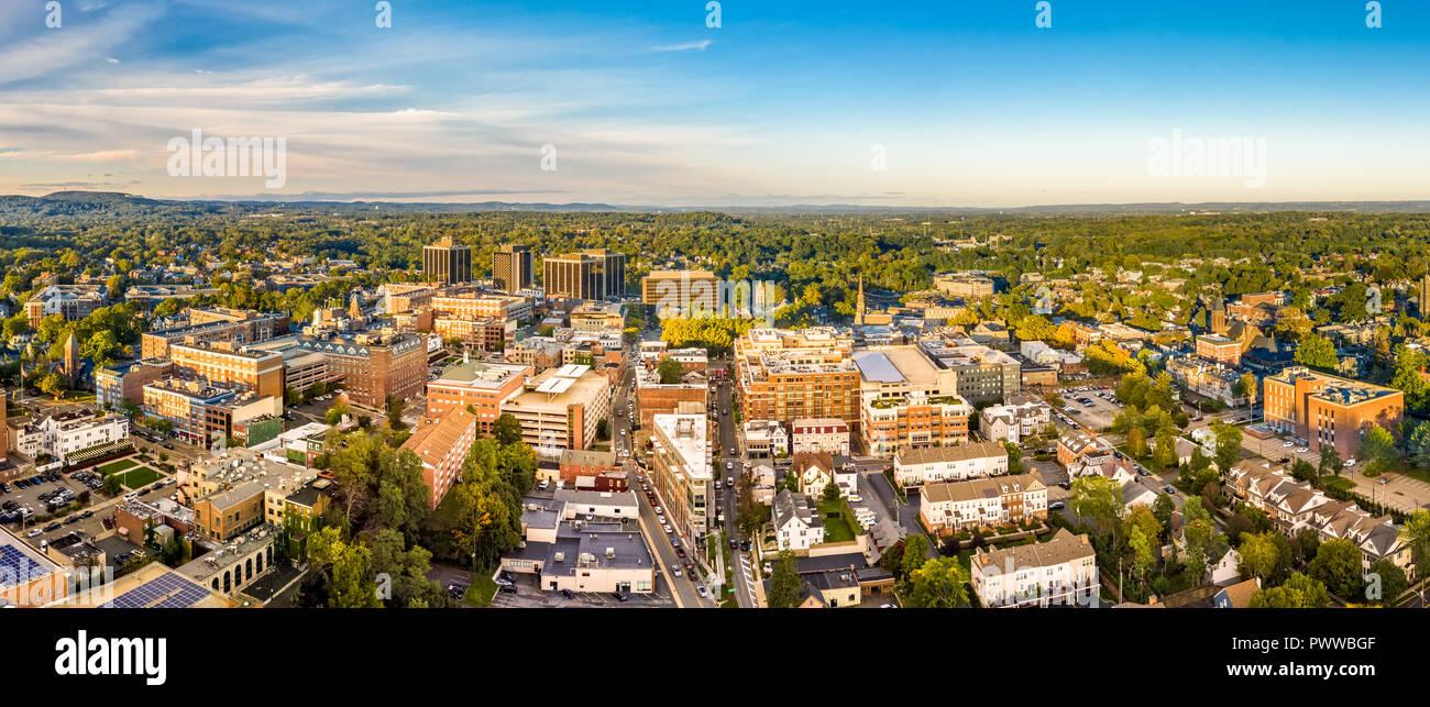 Paisaje aéreo de Morristown, Nueva Jersey Imagen De Stock