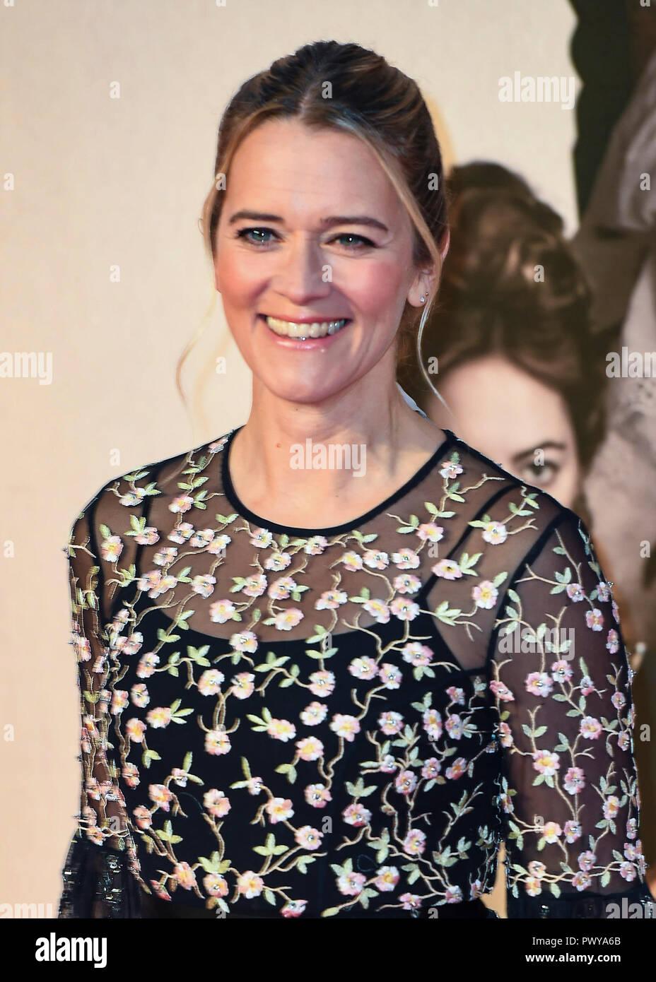 Edith Bowman atiende el Reino Unido estreno de 'La Favorita' & American Express en la 62ª Gala BFI London Film Festival. Foto de stock