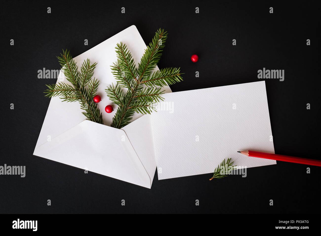 Carta De Felicitaciones De Navidad Y Ano Nuevo.Navidad O Ano Nuevo Carta De Felicitacion Decoracion Con