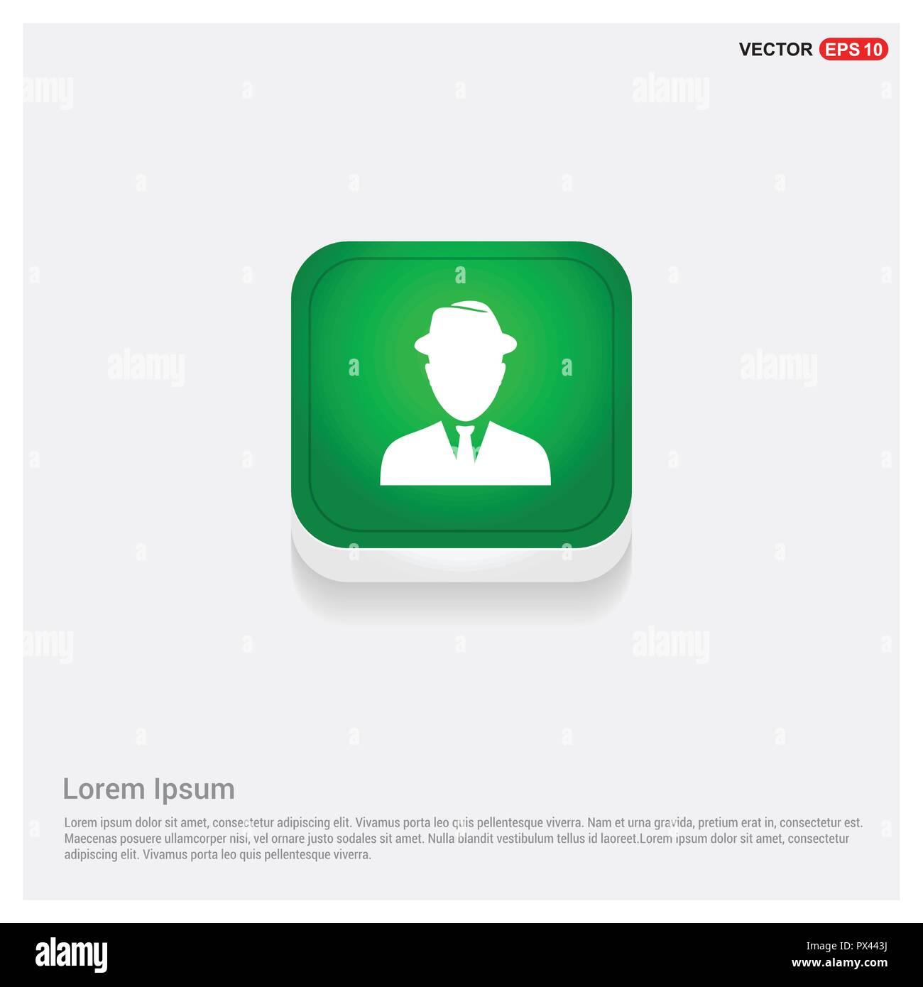f8ed36c1d Botón Web iconGreen Usuario espía - icono vectoriales gratis Imagen De Stock