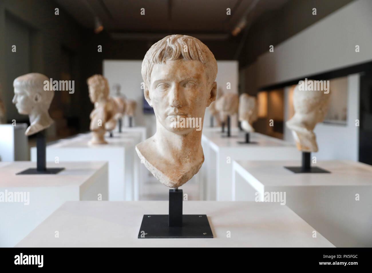 Museo de Arte e Historia. Gaius Octavius Thurinus (Augusto). Ginebra. Suiza. Foto de stock