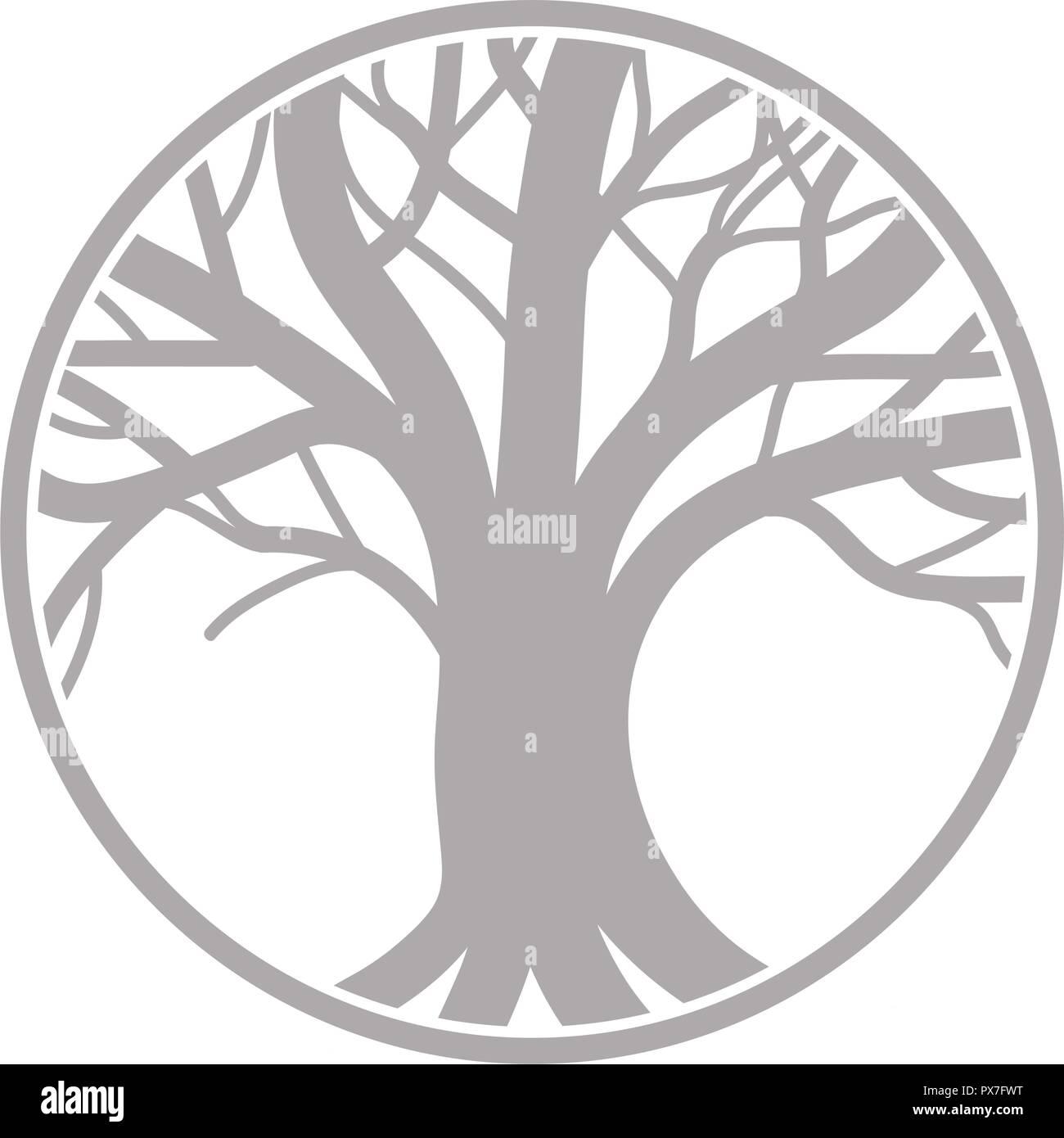 árbol De La Vida Símbolo Del Logotipo Ilustración Del Vector