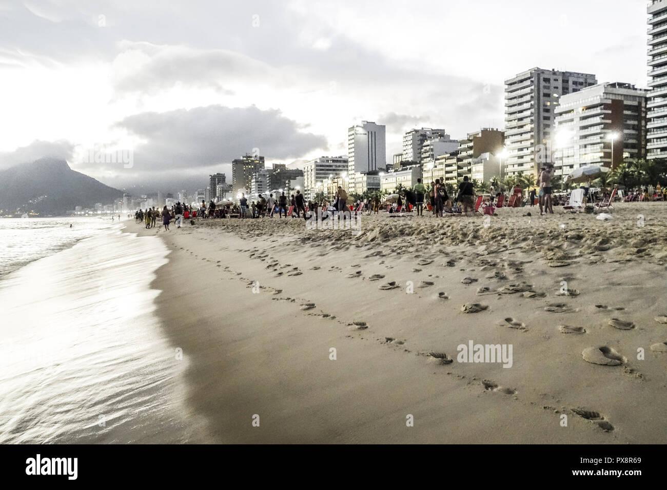 Río de Janeiro, la playa de Ipanema, Brasil Imagen De Stock