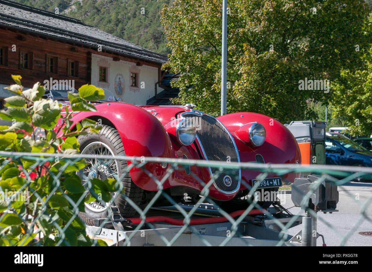 1939 Alfa Romeo 6C 2500 Super Sport Corsa - Vista frontal Imagen De Stock
