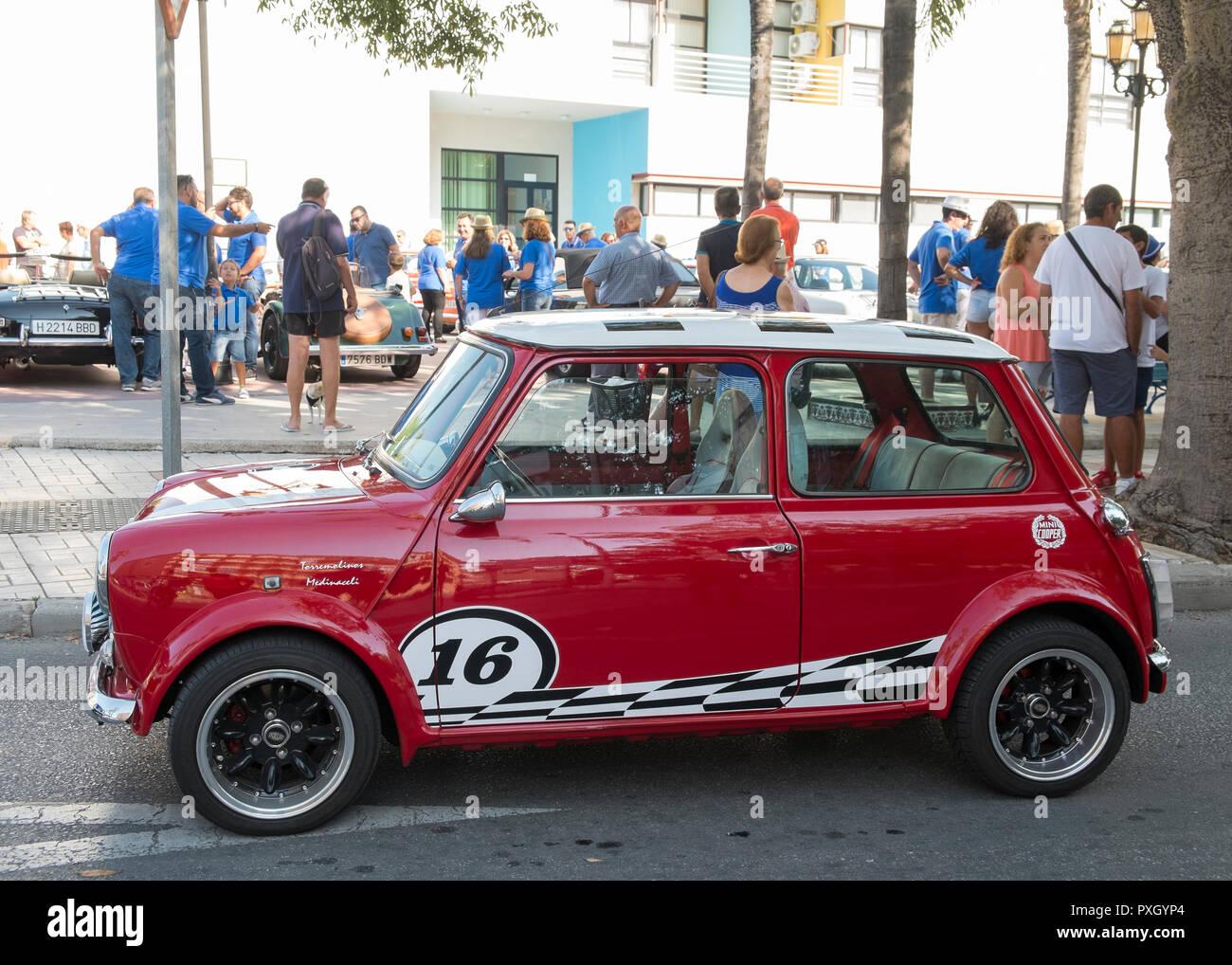 Classic Mini coche clásico celebrada en Torremolinos, Málaga, España. Foto de stock