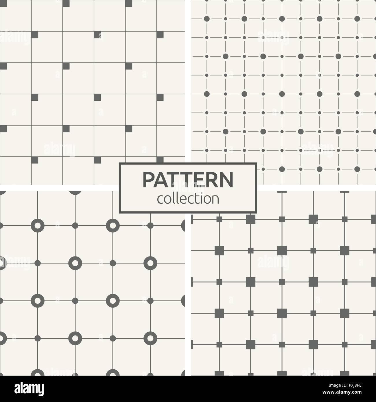 Conjunto de cuatro patrones sin fisuras. Antecedentes vector ...