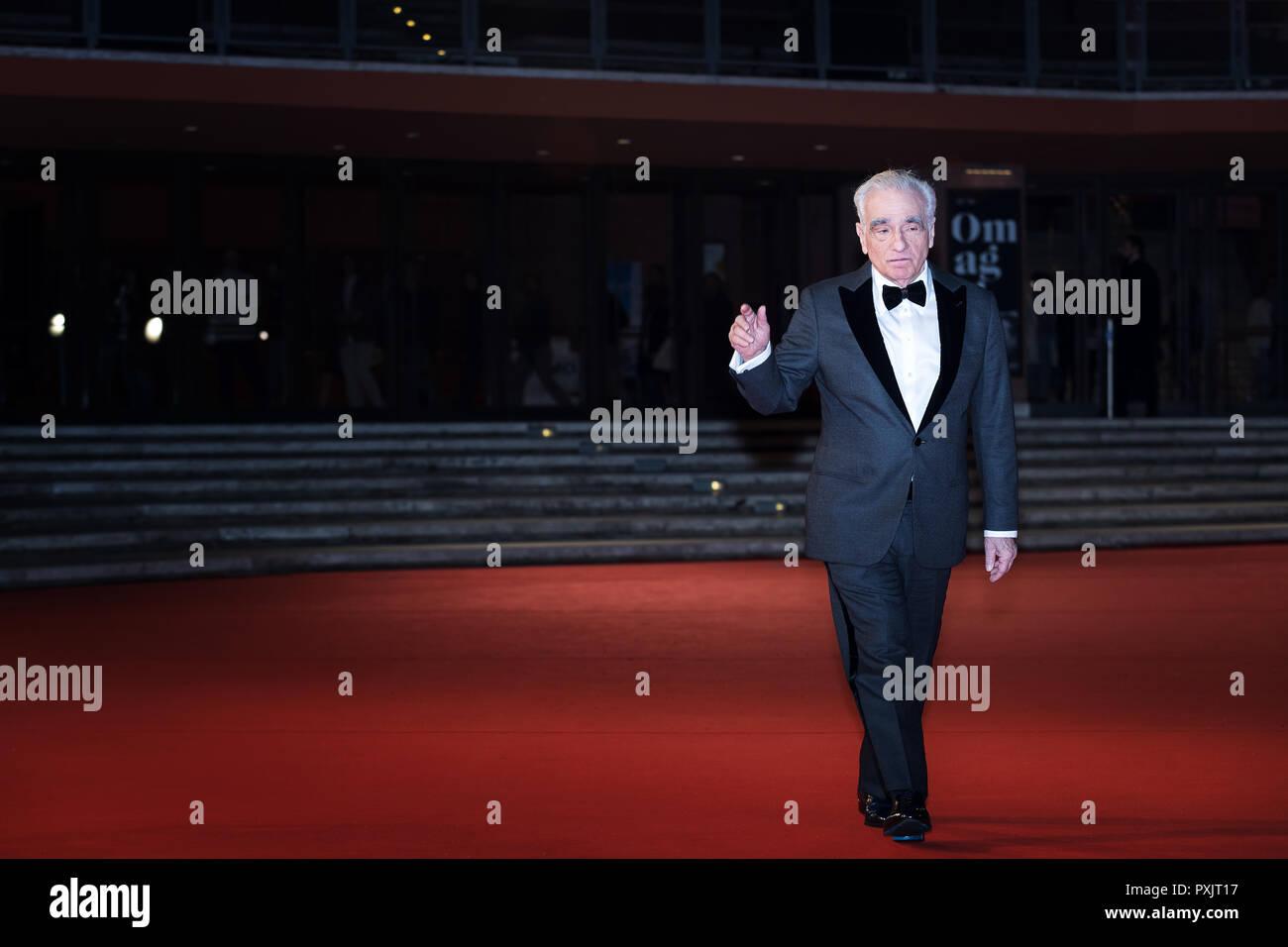 Roma, Italia. El 22 de octubre, 2018: El Director Martin Scorsese, el Lifetime Achievement Award, asiste a la alfombra roja del Festival de Cine de Roma 2018 en el Auditorium Parco Della Musica. Crédito: Gennaro Leonardi/Alamy Live News Imagen De Stock