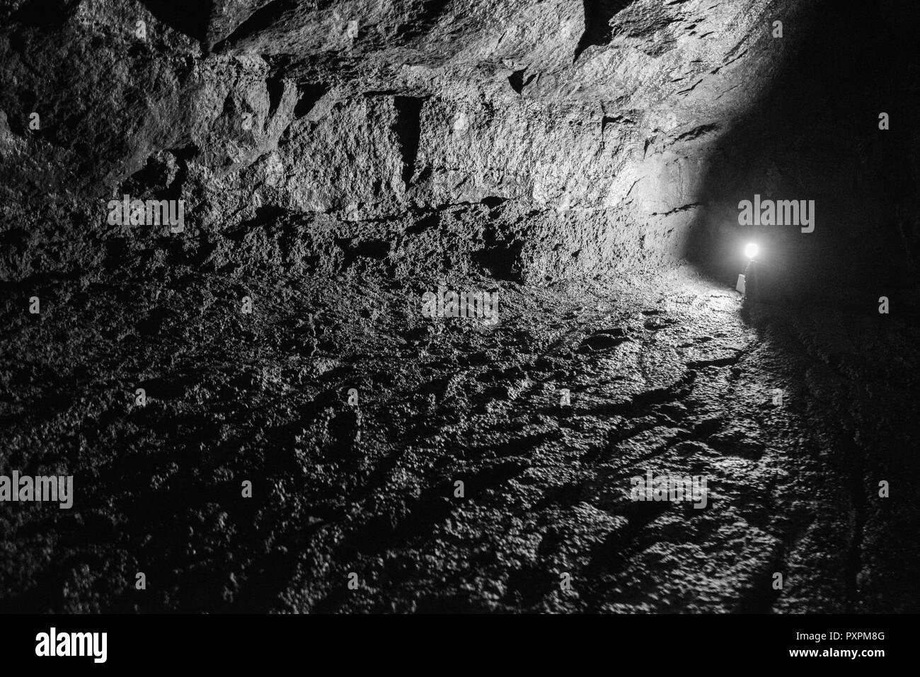 Cueva de hielo Foto de stock