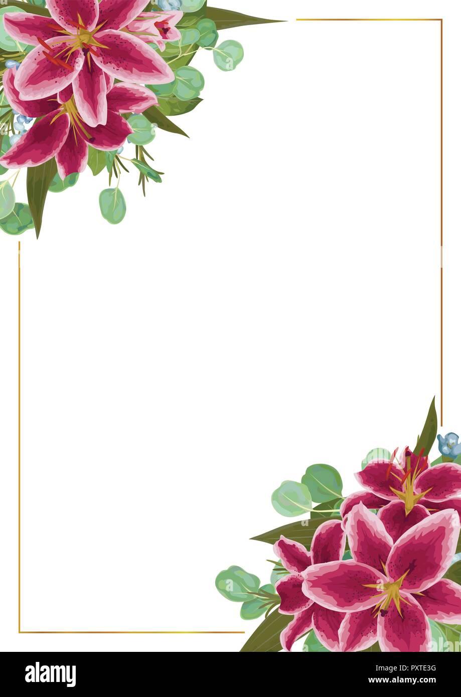 Tarjeta De Invitación De Boda Invitar Vector Floral Diseño