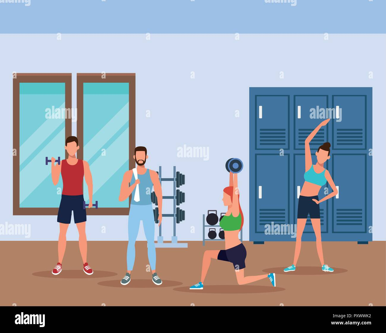 Haciendo el ejercicio fitnesspleople Imagen De Stock