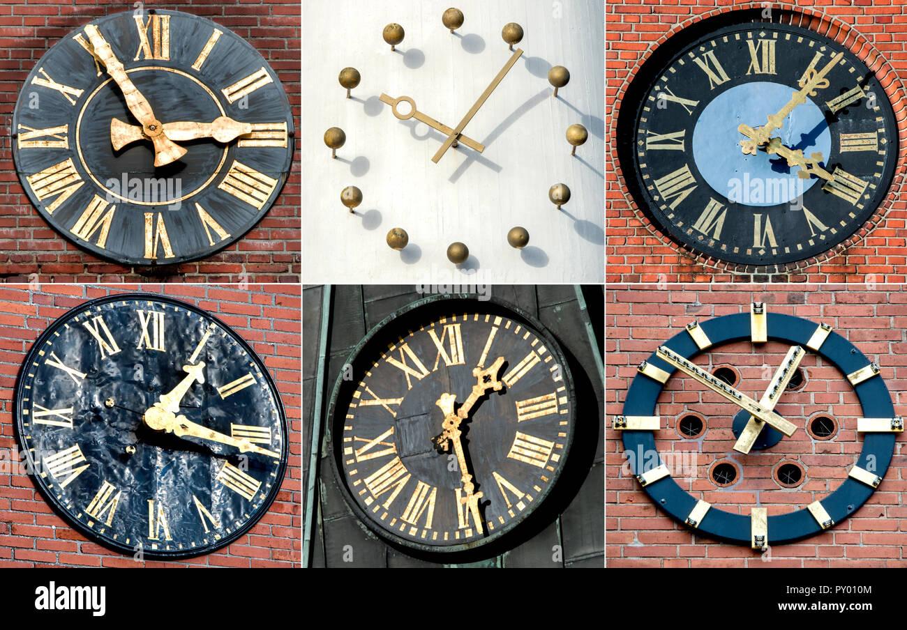 105fbe308328 KOMBO - Relojes de Torre de la iglesia de varias iglesias en ...