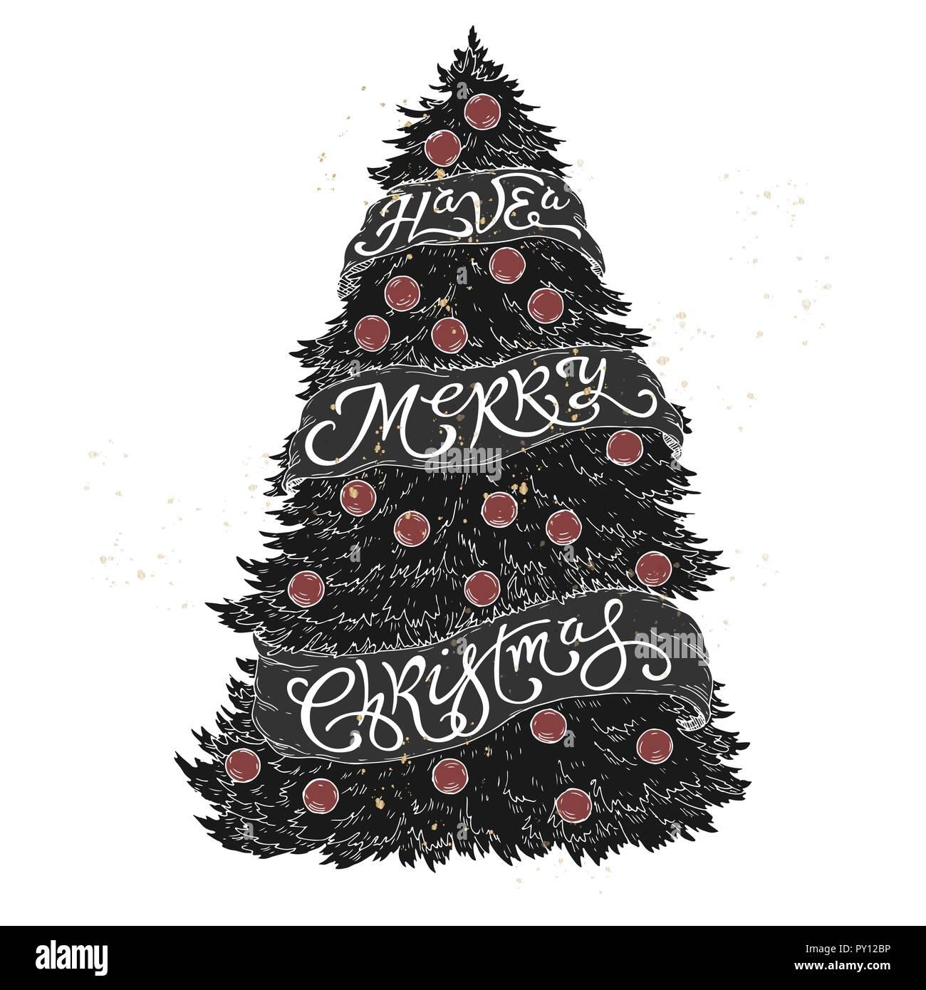 Saludo Letras Cepillo Colocado En Una Forma De Un árbol De