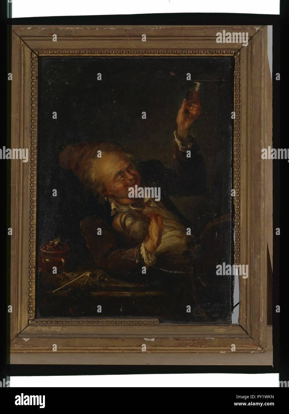 - Buveur anonyme - Musée d'art et d'histoire de Saint-Brieuc, DOC 102. Foto de stock